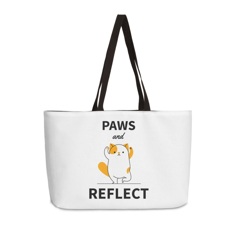 Paws And Reflect Accessories Weekender Bag Bag by Purrform