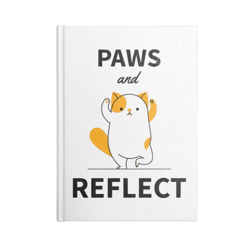Paws And Reflect Accessories Lined Journal Notebook by Purrform
