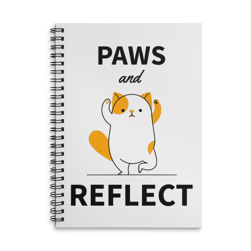 Paws And Reflect Accessories Lined Spiral Notebook by Purrform