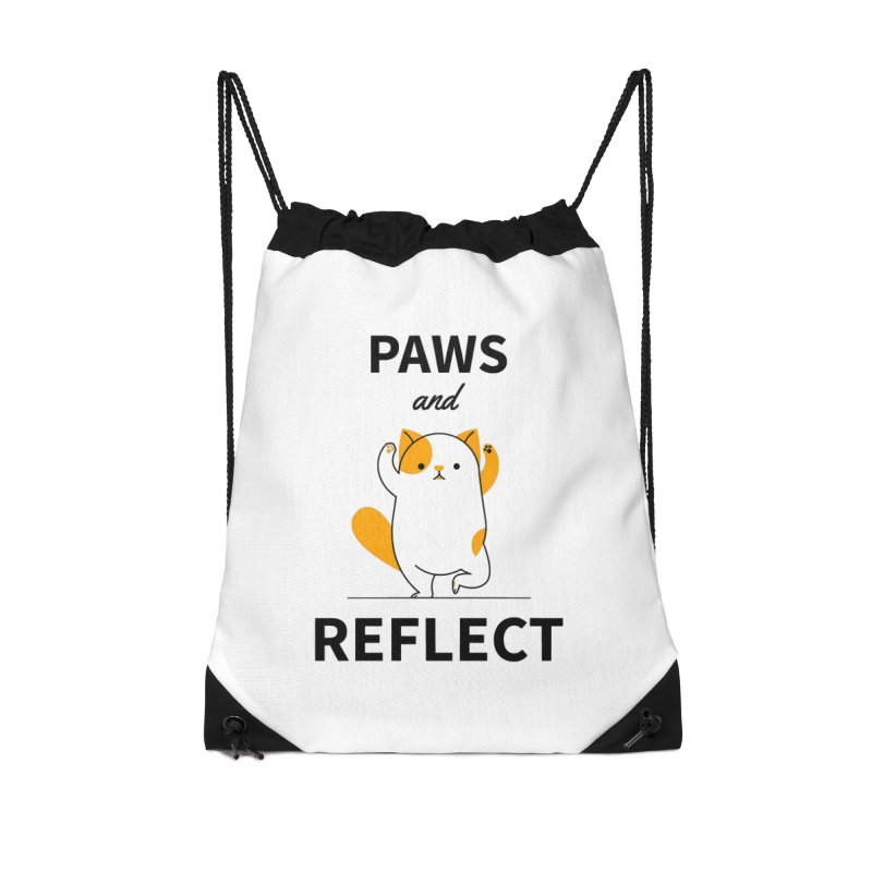 Paws And Reflect Accessories Drawstring Bag Bag by Purrform