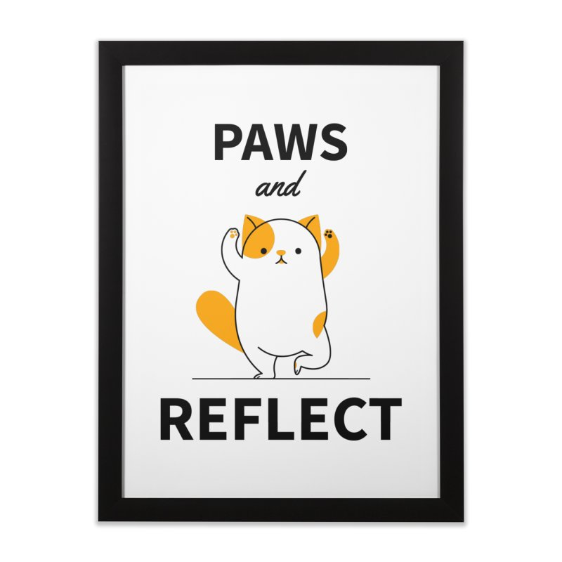 Paws And Reflect Home Framed Fine Art Print by Purrform