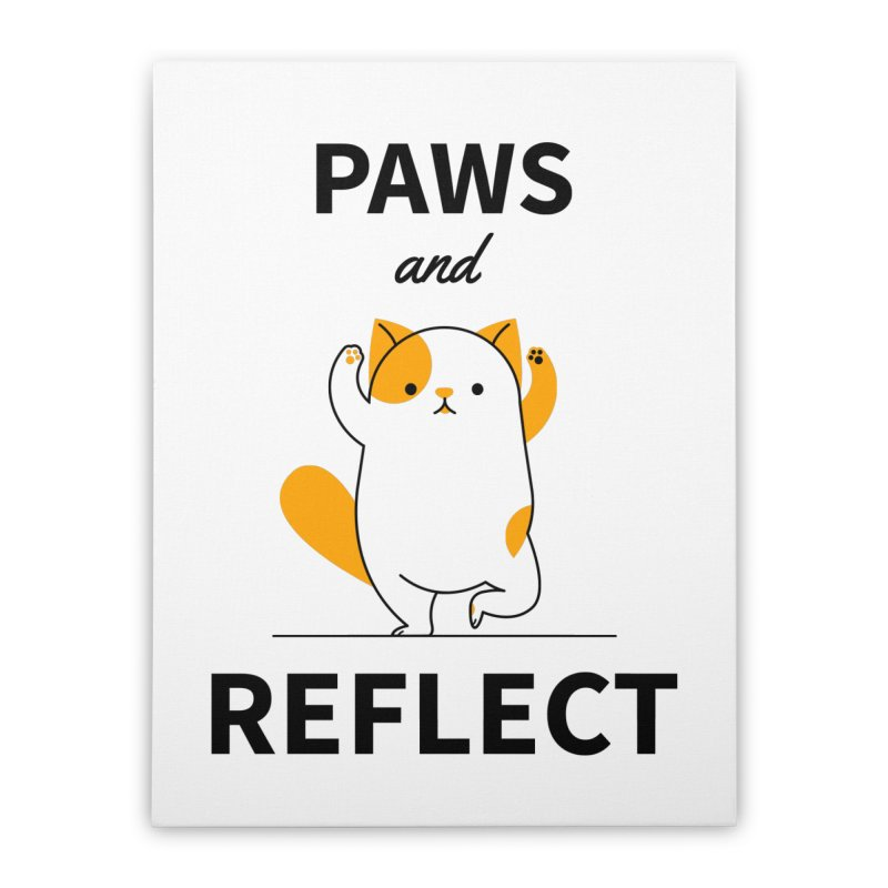 Paws And Reflect Home Stretched Canvas by Purrform