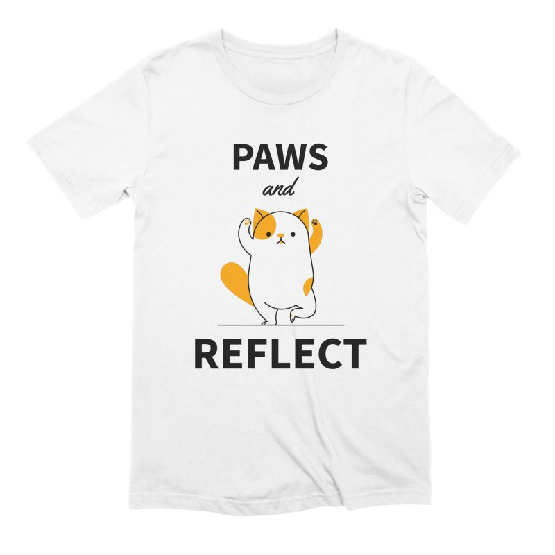 Paws And Reflect Men's Extra Soft T-Shirt by Purrform