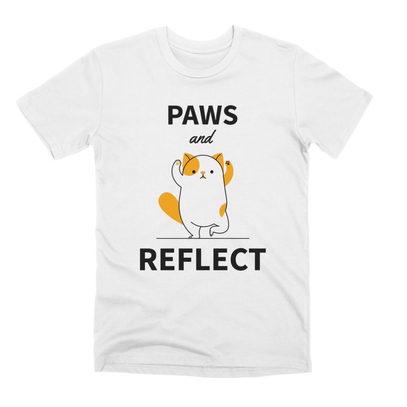 Paws And Reflect Men's Premium T-Shirt by Purrform