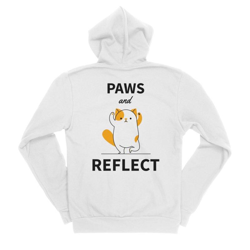 Paws And Reflect Men's Sponge Fleece Zip-Up Hoody by Purrform
