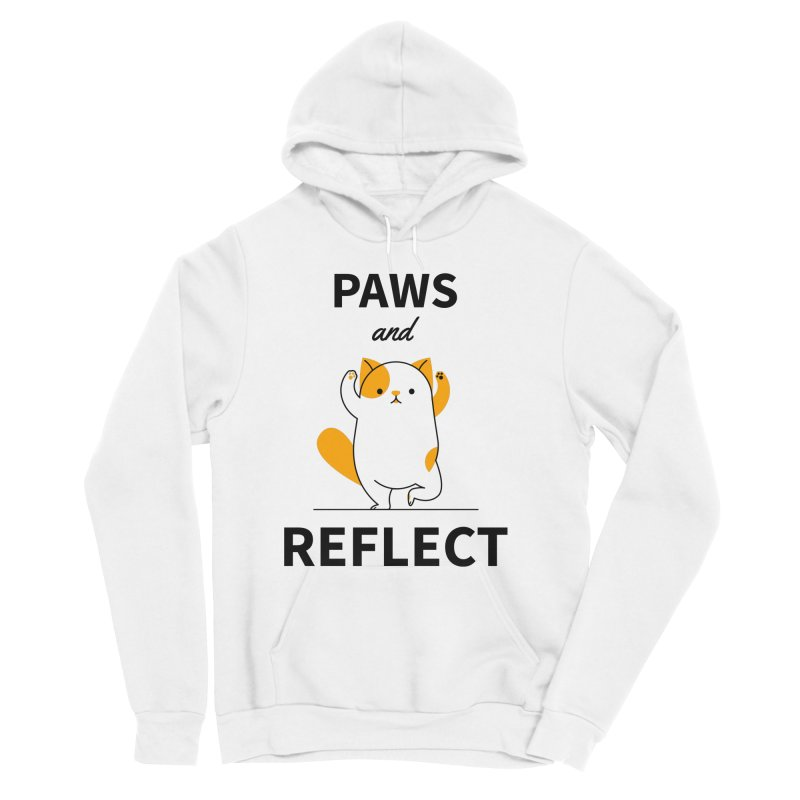 Paws And Reflect Men's Sponge Fleece Pullover Hoody by Purrform