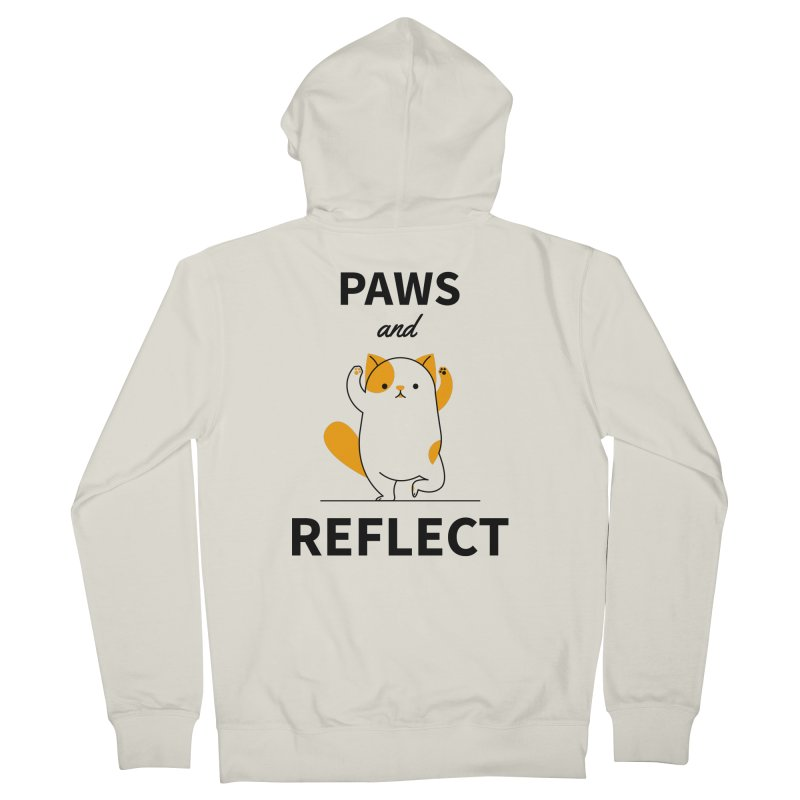 Paws And Reflect Men's French Terry Zip-Up Hoody by Purrform