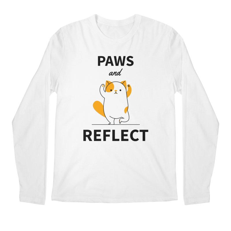 Paws And Reflect Men's Regular Longsleeve T-Shirt by Purrform