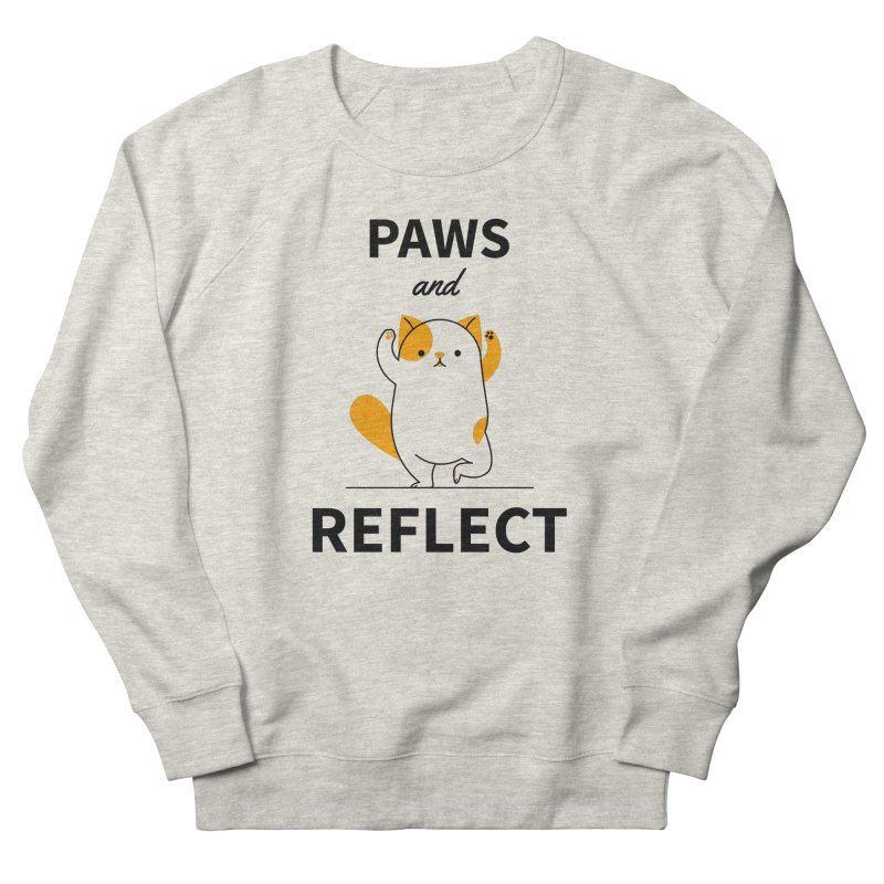 Paws And Reflect Men's French Terry Sweatshirt by Purrform