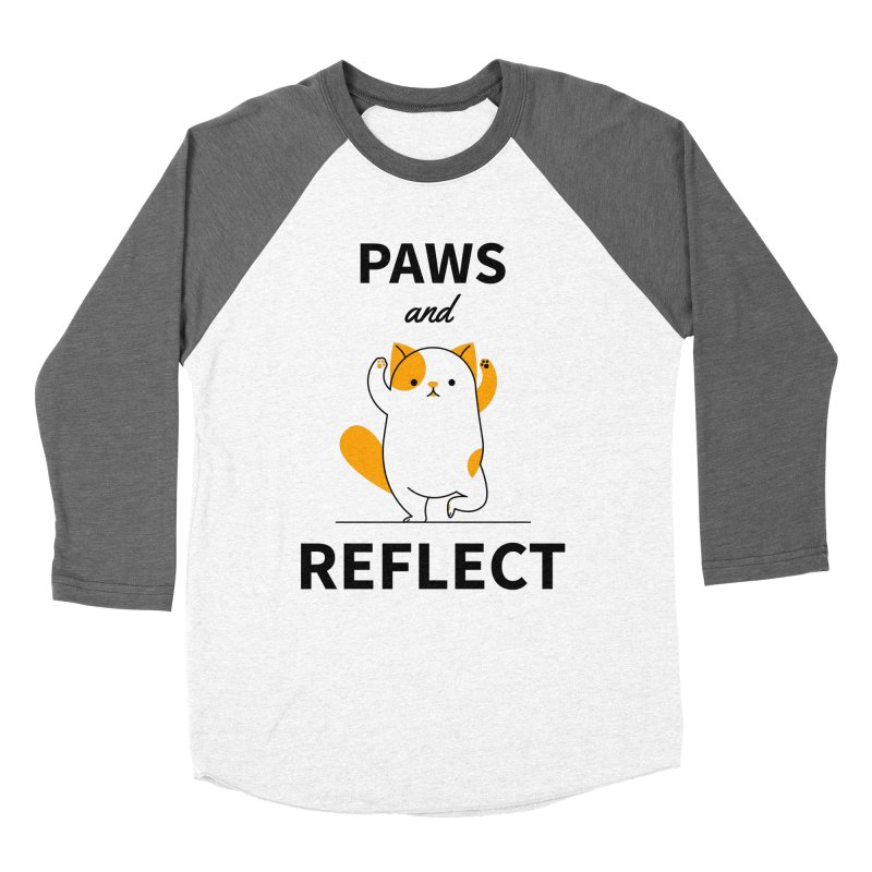 Paws And Reflect Men's Baseball Triblend Longsleeve T-Shirt by Purrform