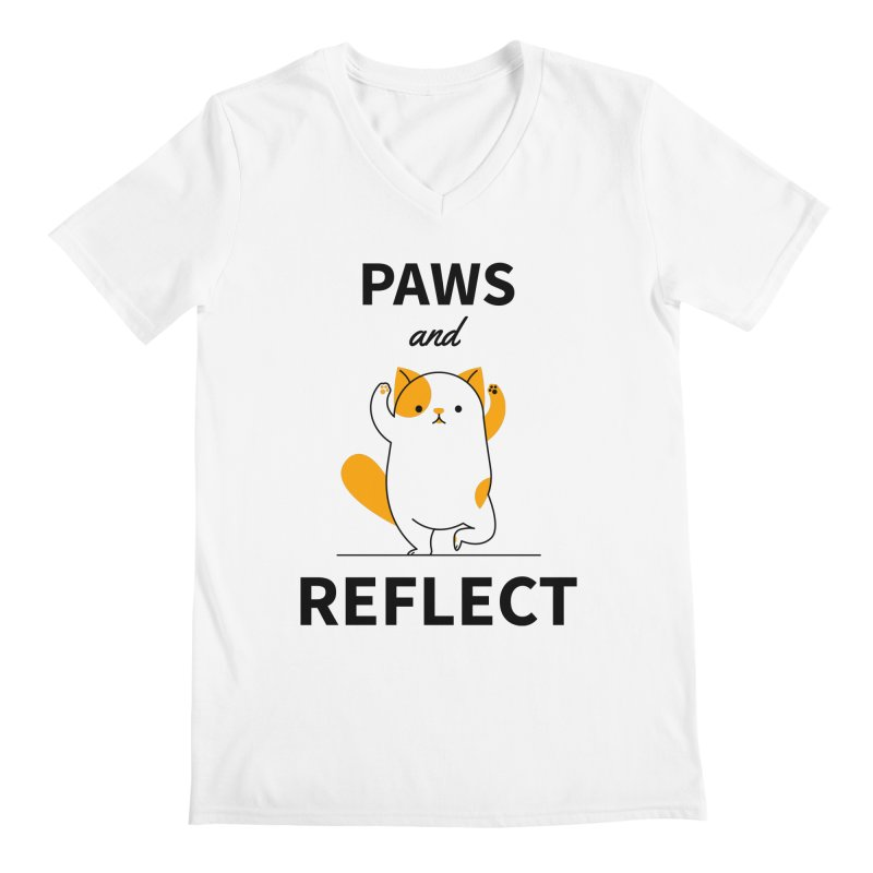 Paws And Reflect Men's Regular V-Neck by Purrform
