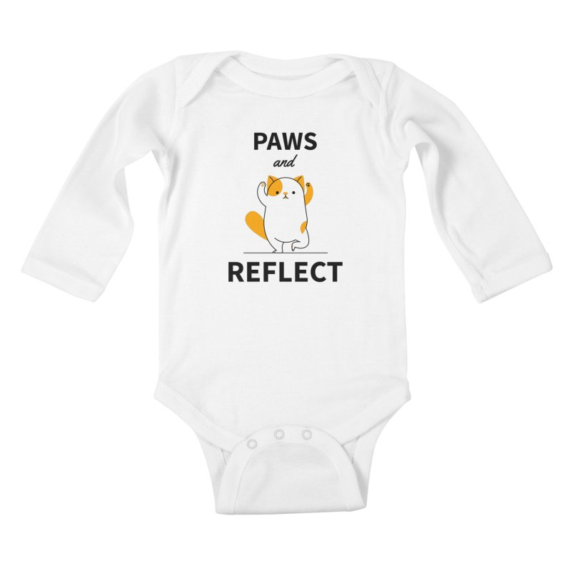 Paws And Reflect Kids Baby Longsleeve Bodysuit by Purrform