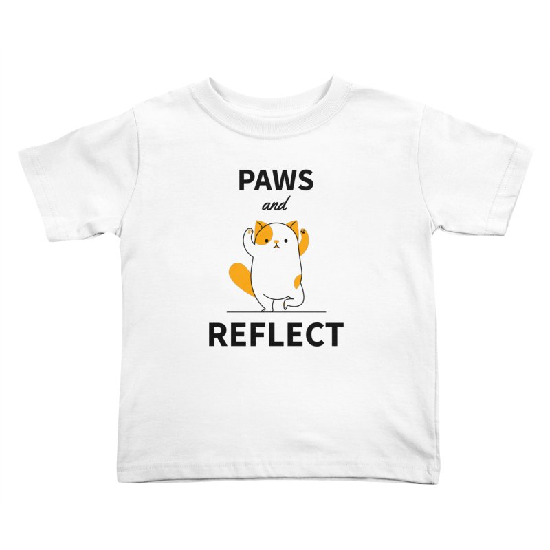 Paws And Reflect Kids Toddler T-Shirt by Purrform