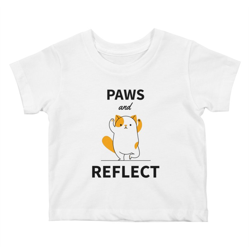 Paws And Reflect Kids Baby T-Shirt by Purrform