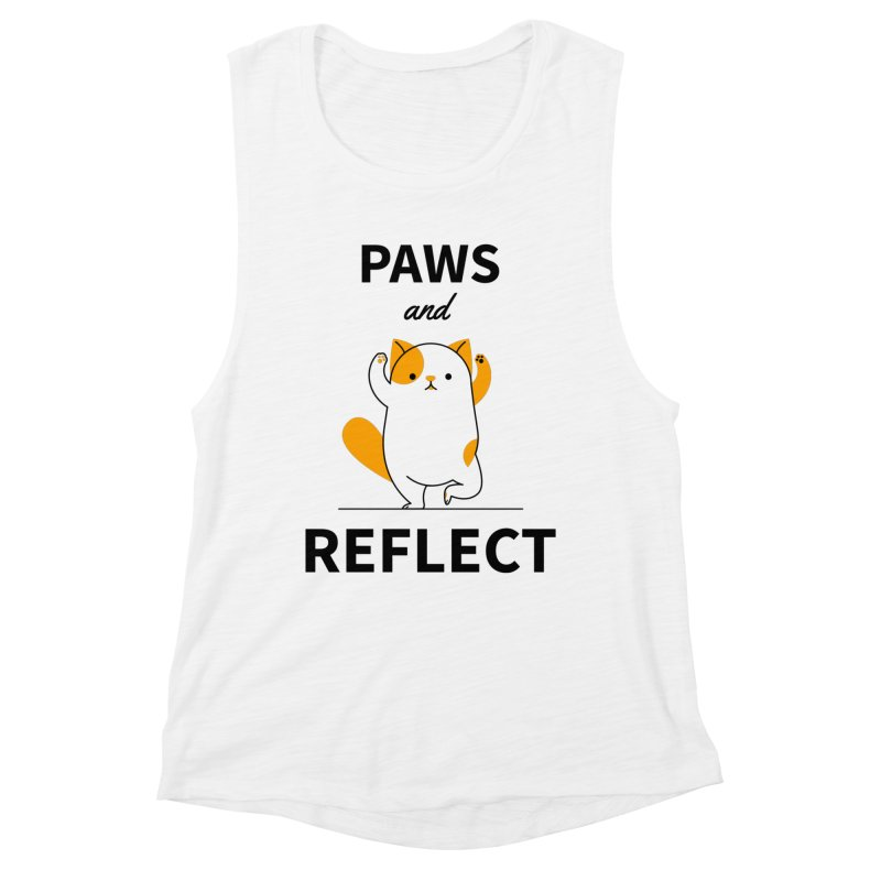 Paws And Reflect Women's Muscle Tank by Purrform