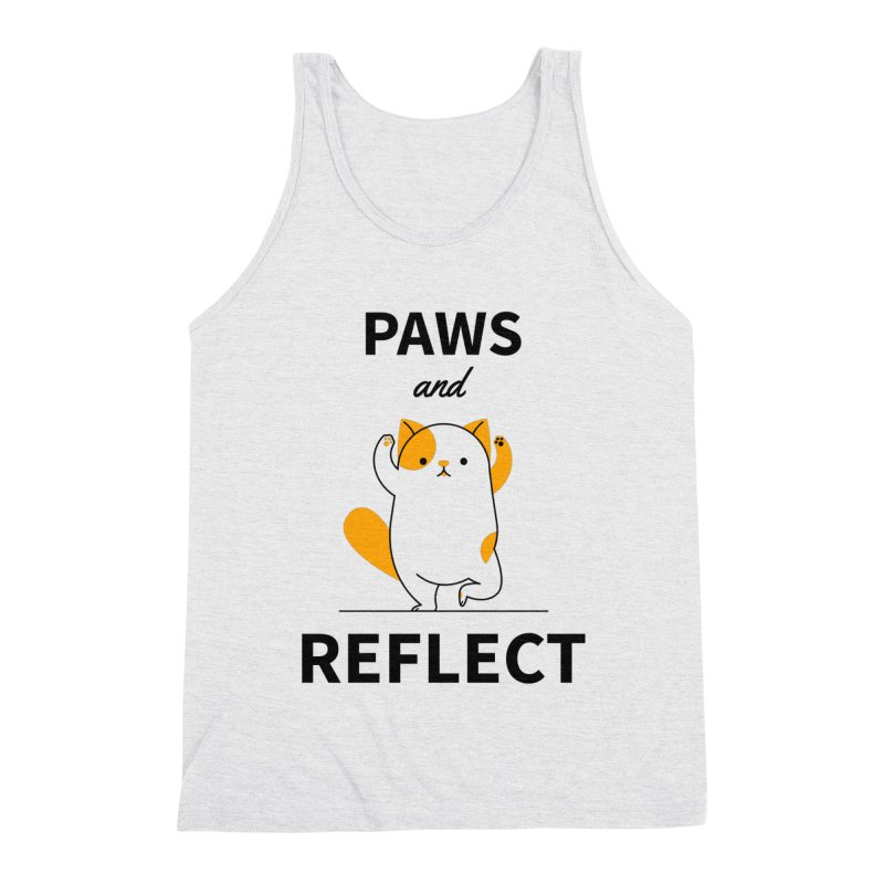 Paws And Reflect Men's Triblend Tank by Purrform