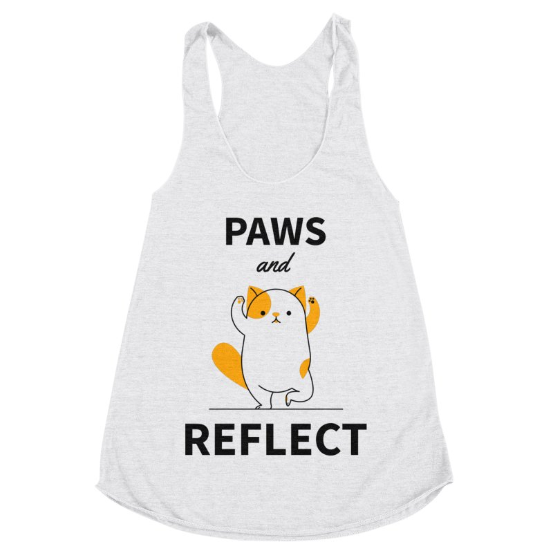 Paws And Reflect Women's Racerback Triblend Tank by Purrform
