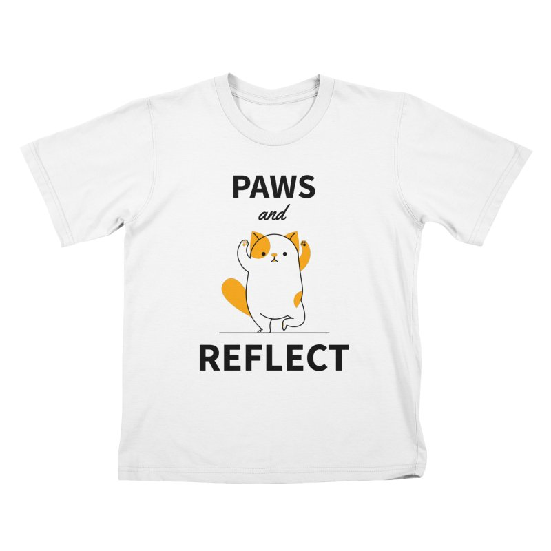 Paws And Reflect Kids T-Shirt by Purrform