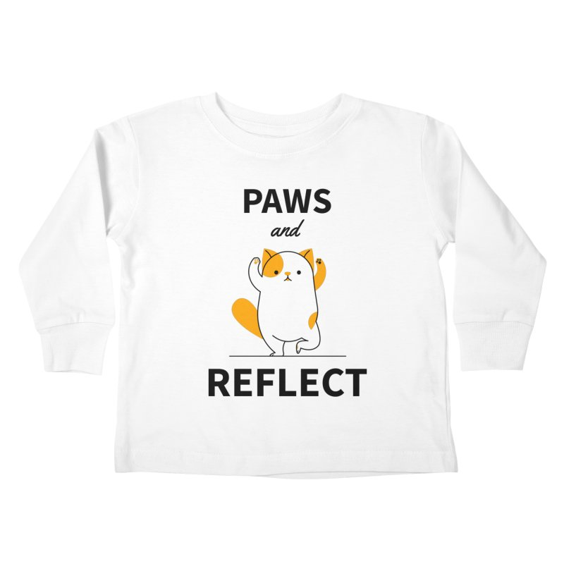 Paws And Reflect Kids Toddler Longsleeve T-Shirt by Purrform