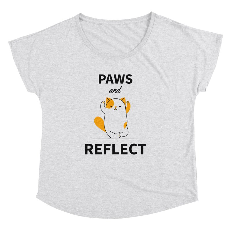 Paws And Reflect Women's Dolman Scoop Neck by Purrform