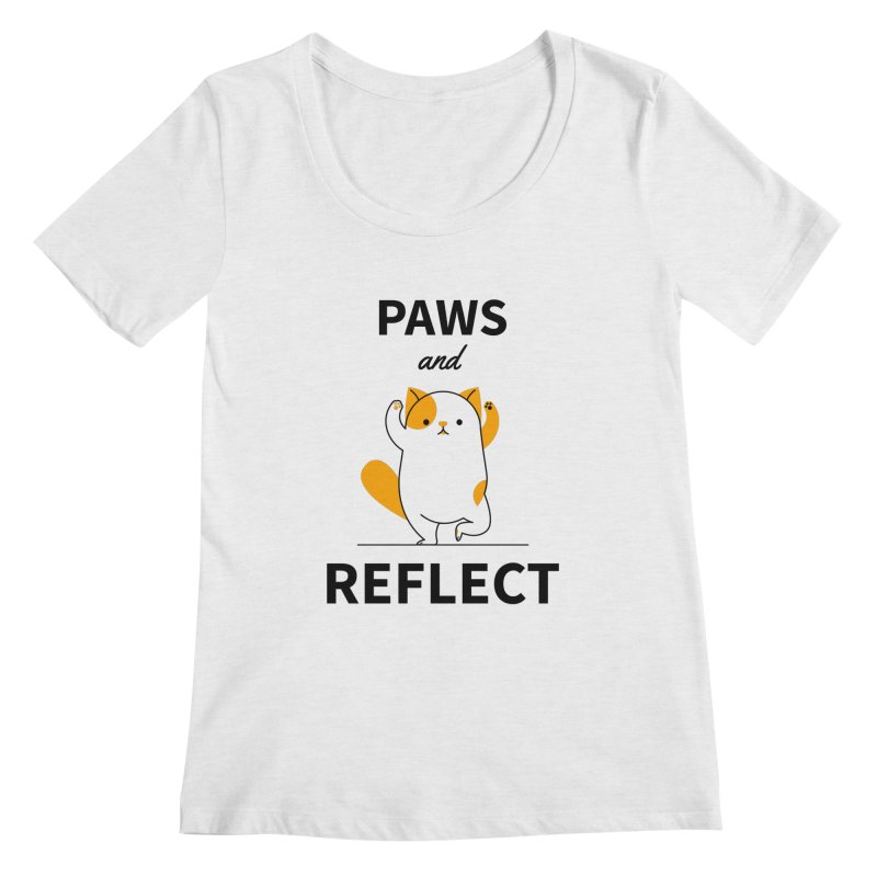Paws And Reflect Women's Regular Scoop Neck by Purrform
