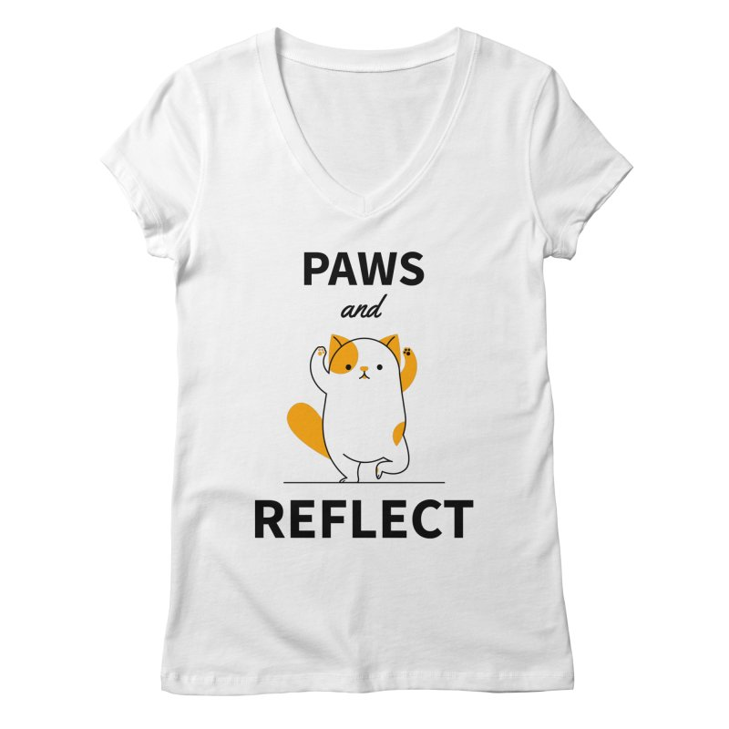 Paws And Reflect Women's Regular V-Neck by Purrform