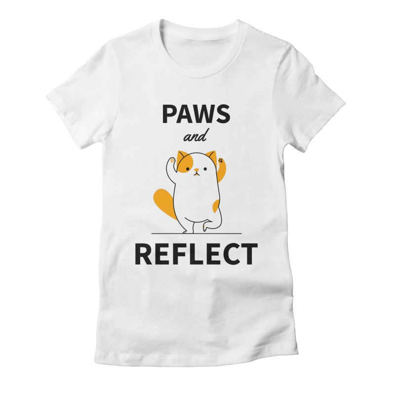 Paws And Reflect Women's Fitted T-Shirt by Purrform