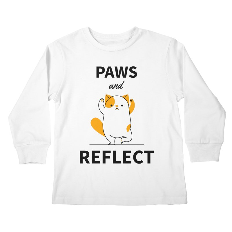 Paws And Reflect Kids Longsleeve T-Shirt by Purrform
