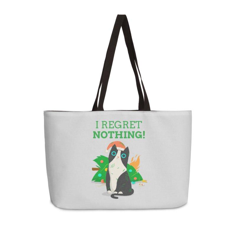 I Regret Nothing Accessories Weekender Bag Bag by Purrform
