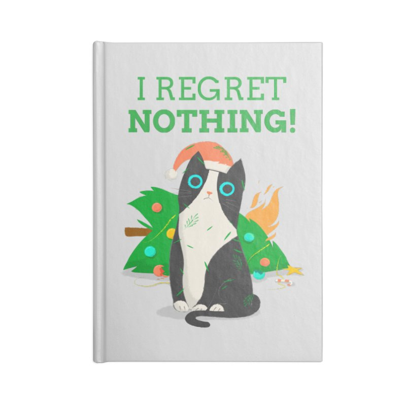 I Regret Nothing Accessories Lined Journal Notebook by Purrform