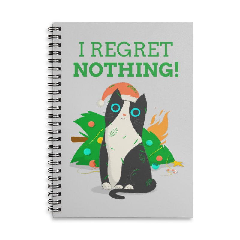 I Regret Nothing Accessories Lined Spiral Notebook by Purrform