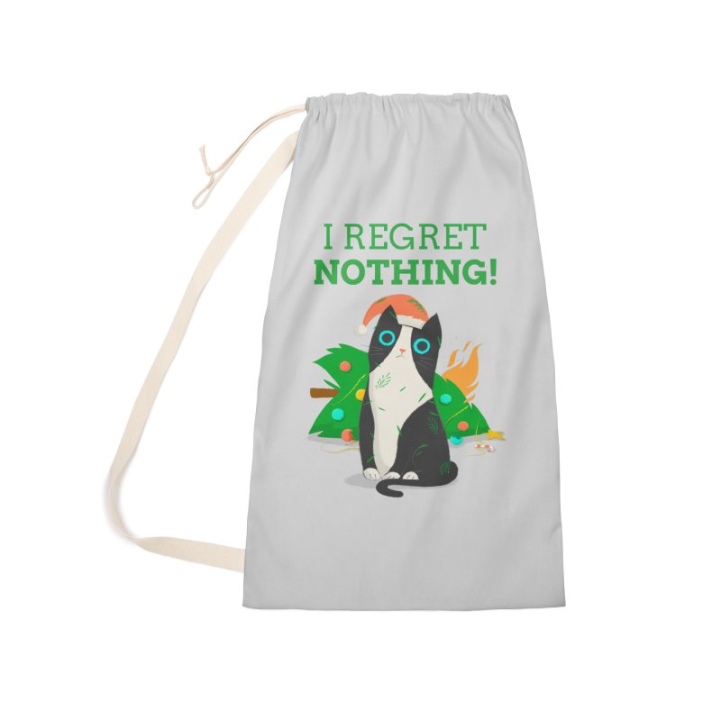 I Regret Nothing Accessories Laundry Bag Bag by Purrform