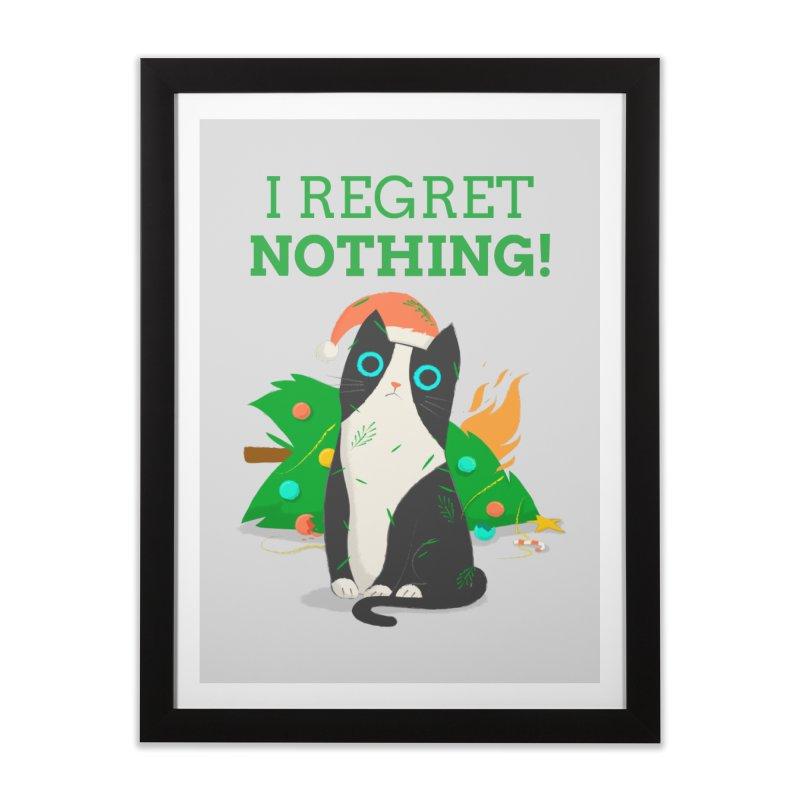 I Regret Nothing Home Framed Fine Art Print by Purrform