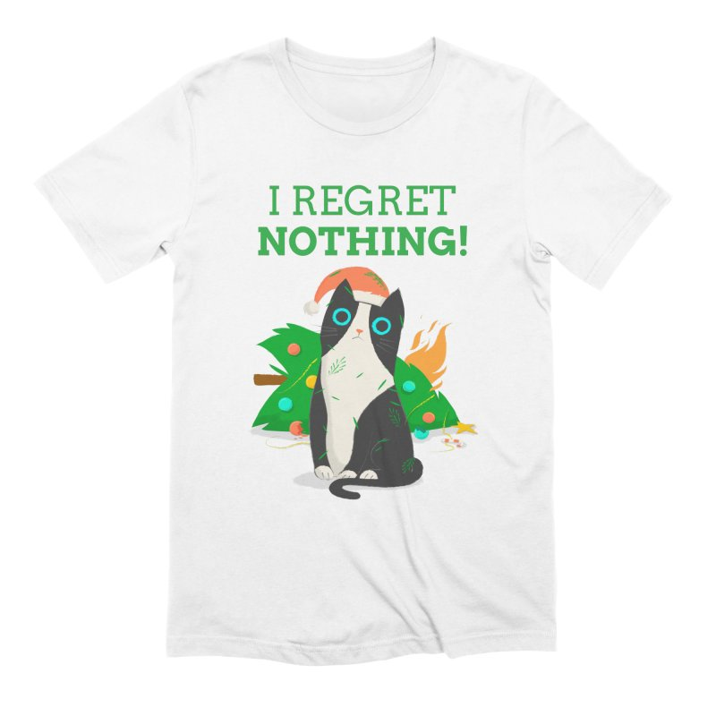 I Regret Nothing Men's Extra Soft T-Shirt by Purrform