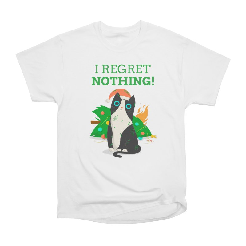 I Regret Nothing Men's Heavyweight T-Shirt by Purrform