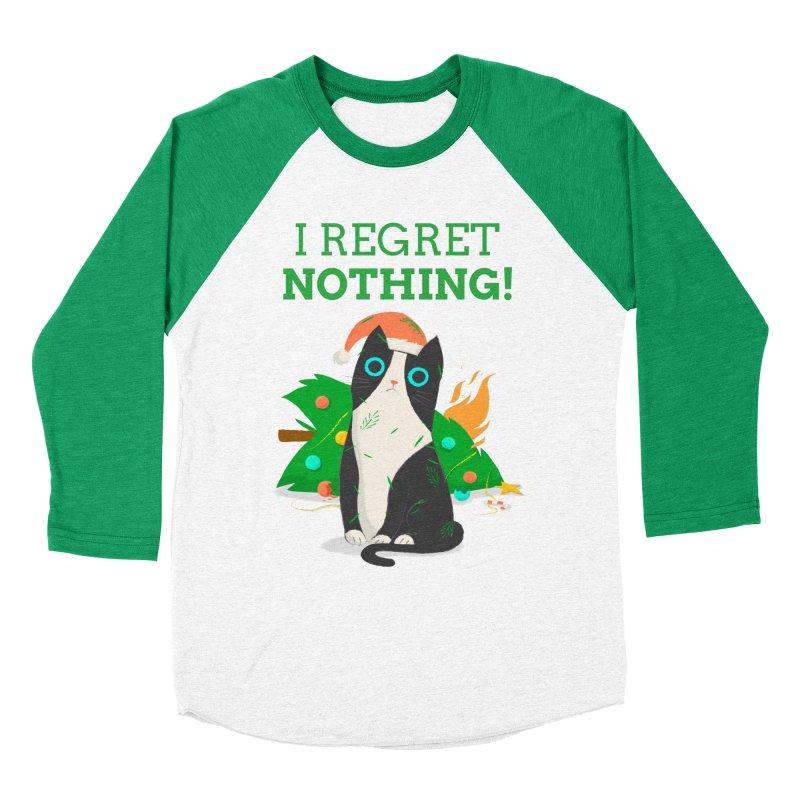 I Regret Nothing Men's Baseball Triblend Longsleeve T-Shirt by Purrform