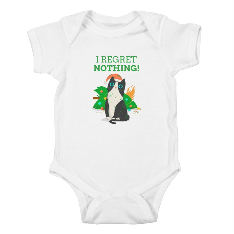 I Regret Nothing Kids Baby Bodysuit by Purrform