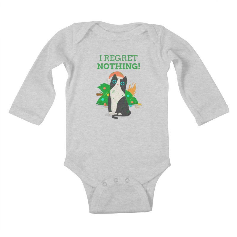 I Regret Nothing Kids Baby Longsleeve Bodysuit by Purrform