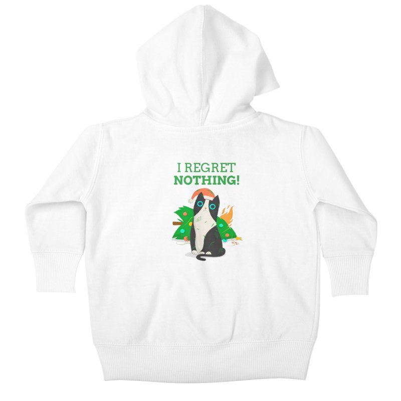 I Regret Nothing Kids Baby Zip-Up Hoody by Purrform