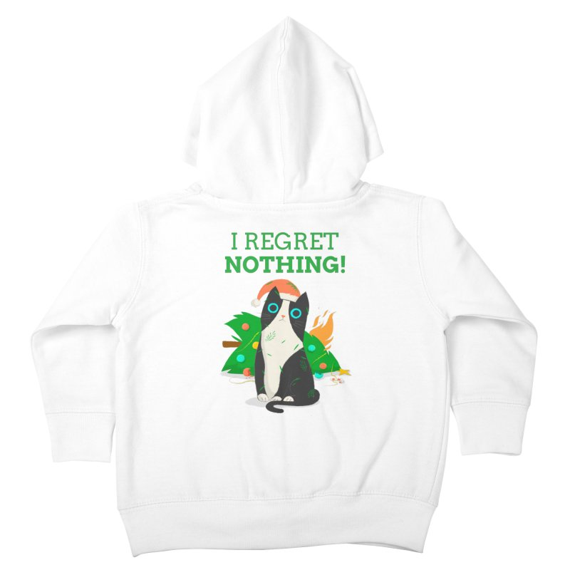 I Regret Nothing Kids Toddler Zip-Up Hoody by Purrform