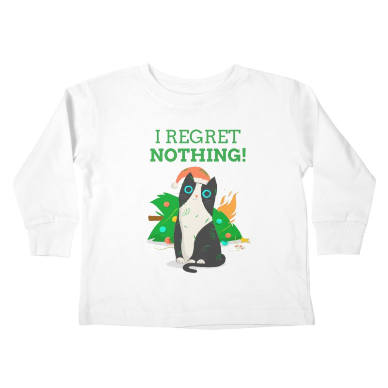 I Regret Nothing Kids Toddler Longsleeve T-Shirt by Purrform
