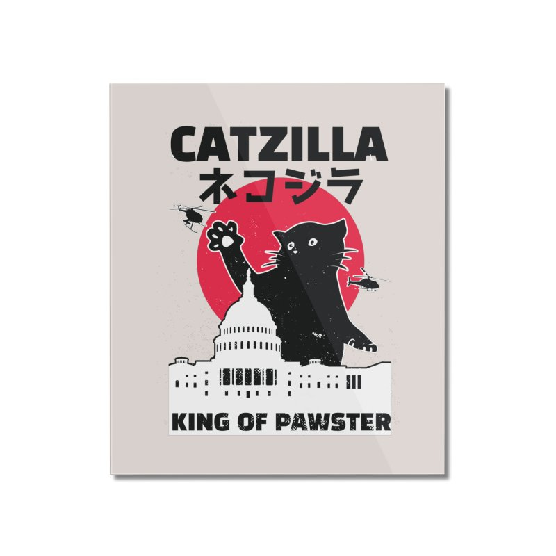 Catzilla Home Decor Mounted Acrylic Print by Purrform