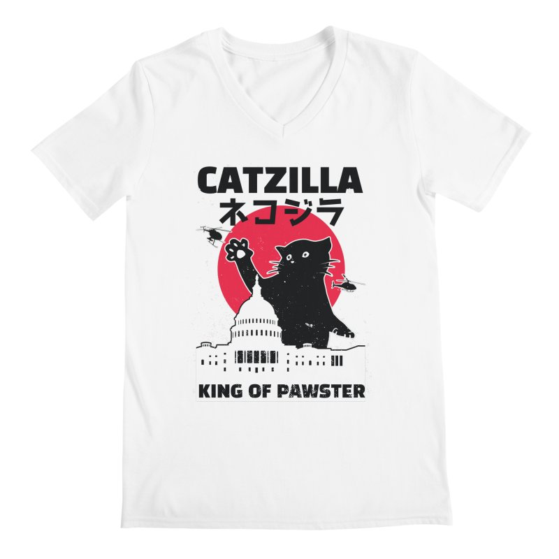 Catzilla Men's V-Neck by Purrform