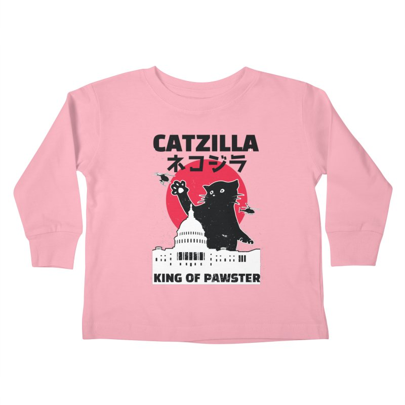 Catzilla Kids Toddler Longsleeve T-Shirt by Purrform
