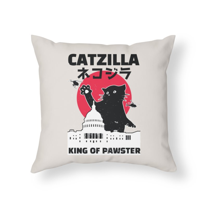 Catzilla Home Decor Throw Pillow by Purrform