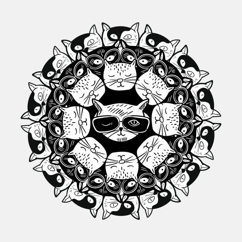 Cat Mandala Men's V-Neck by Purrform