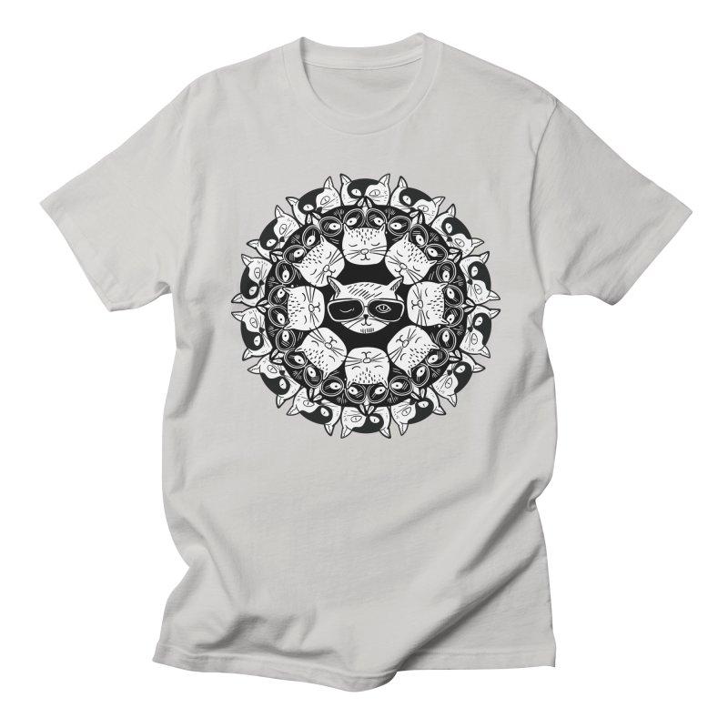 Cat Mandala Men's T-Shirt by Purrform