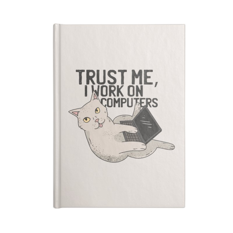 Computer Cat Accessories Notebook by Purrform