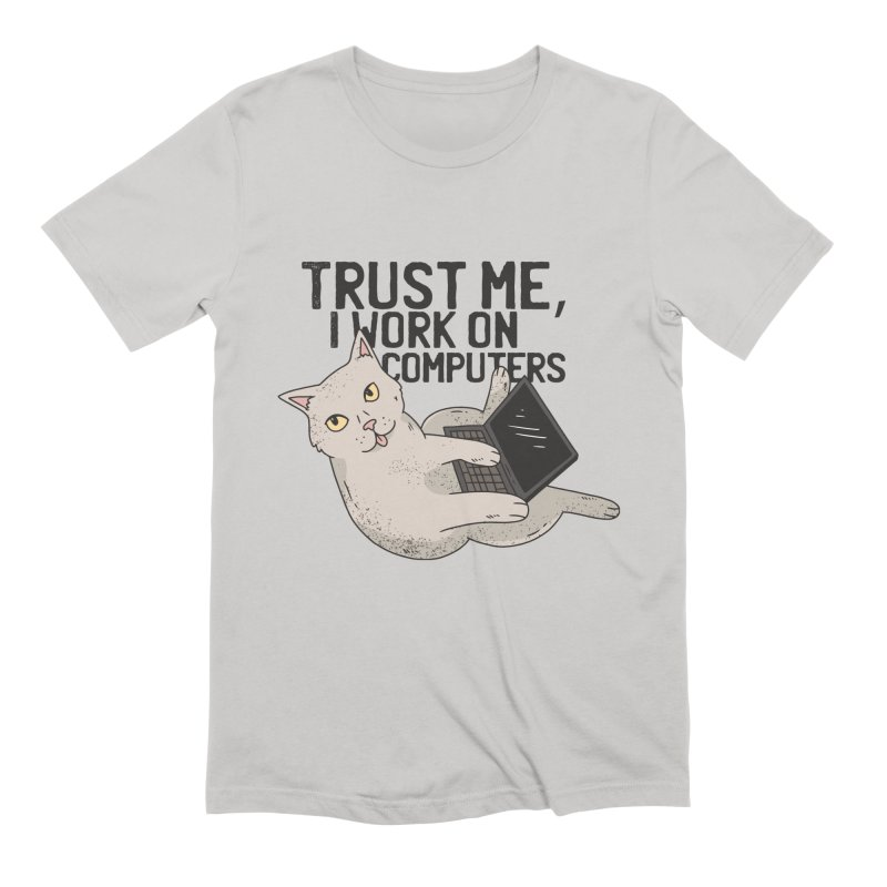 Computer Cat Men's T-Shirt by Purrform
