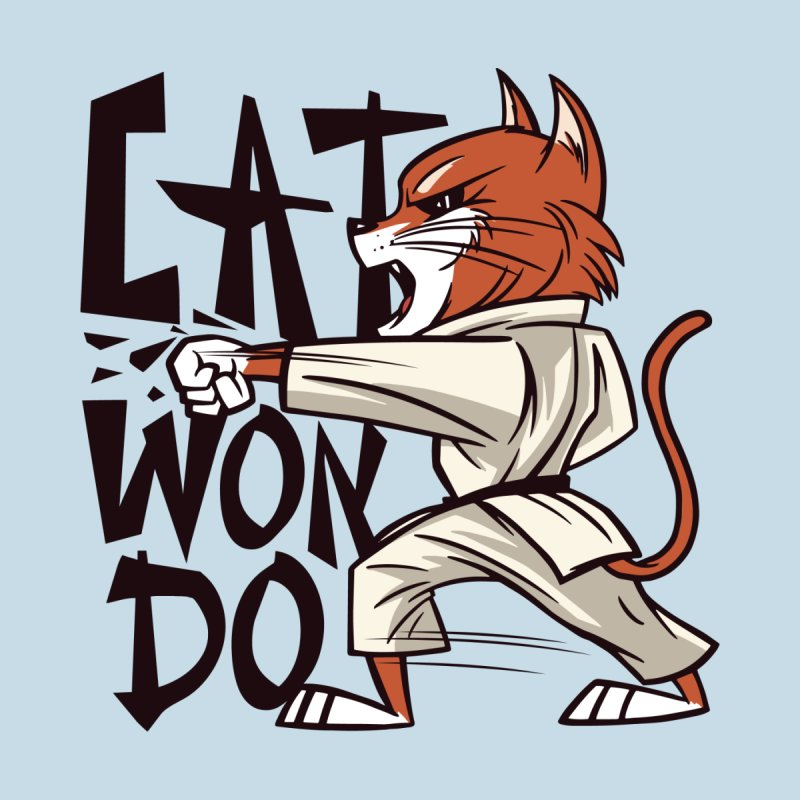 Cat Won Do Kids T-Shirt by Purrform